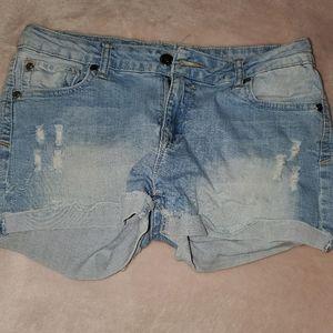 Papaya jean shorts